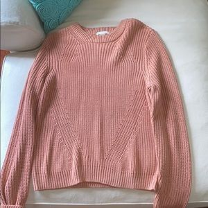 H&M salmon colored sweater size large